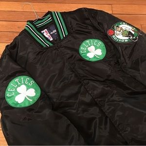 VINTAGE BOSTON CELTICS BUTTON UP JACKET